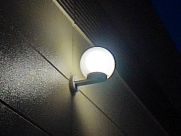 ベイシアの建物の明かり(2月20日)