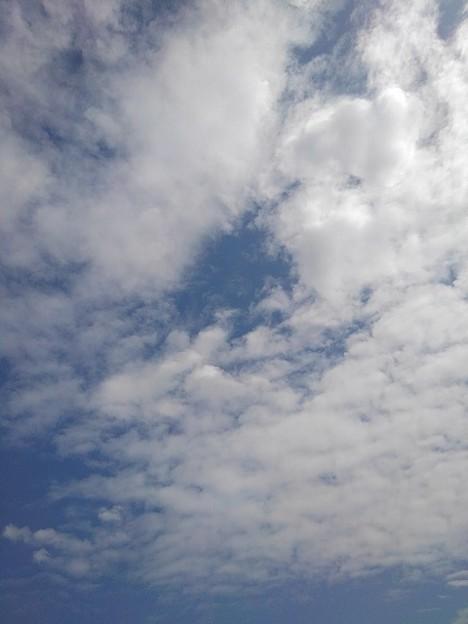 雲の多い空(3月16日)