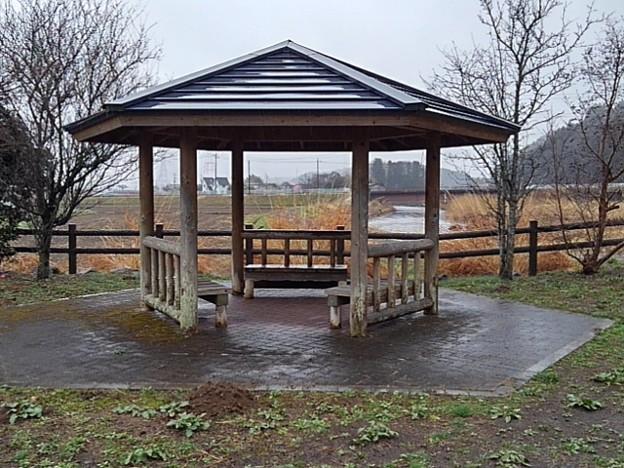 川崎城跡公園の休憩場(3月21日)