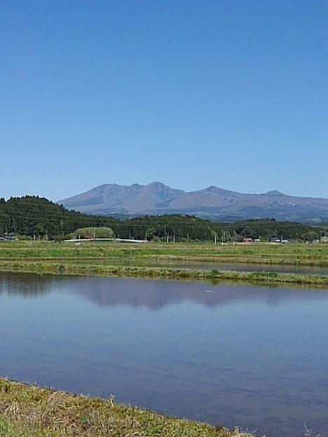 水田と山(4月27日)