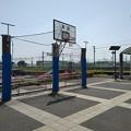 氏家駅のバスケットボールコート(5月4日)