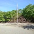 那須野が原公園のジャングルジム(5月6日)