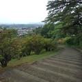 長峰公園の丘の上の緩やかな下り階段の景色(5月9日)