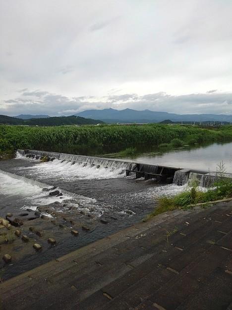 堰のある川(7月6日)