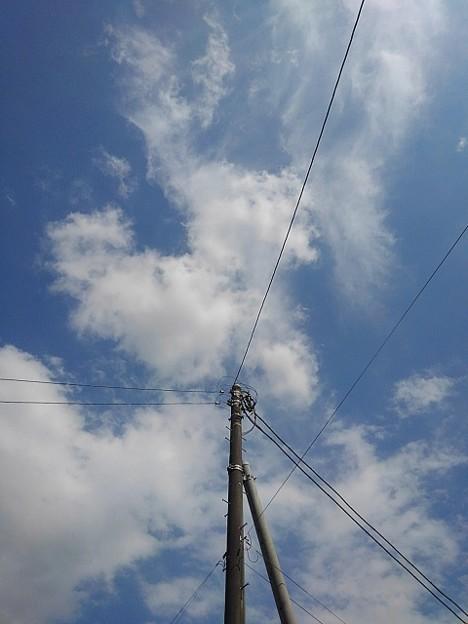 電柱と空(7月10日)