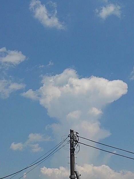 電柱と雲(7月19日)
