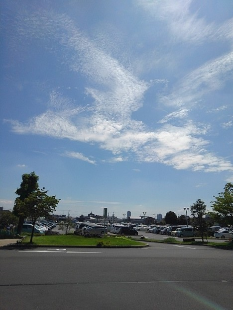 済生会宇都宮病院で見た格好良い形の雲(8月6日)