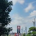 Photos: 街路樹の向こうの遠くの景色(7月25日)