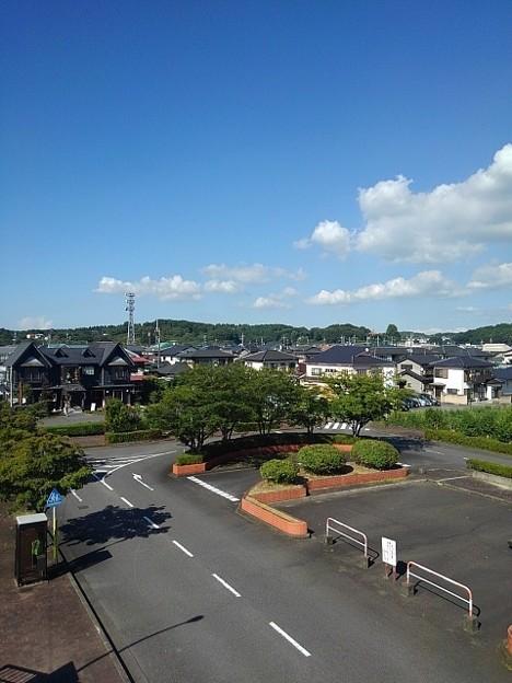 矢板駅のロータリー(8月6日)