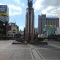 Photos: 宇都宮駅前の像(8月6日)