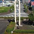 Photos: 矢板駅の近くの時計台(8月6日)