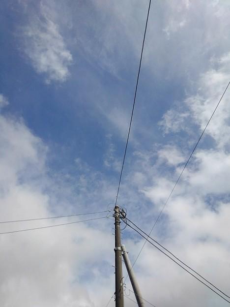 電柱と空(8月18日)