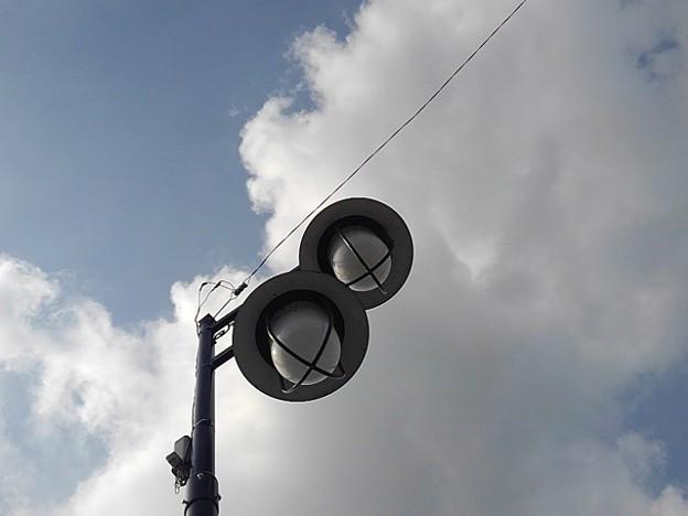 街灯と雲(8月22日)