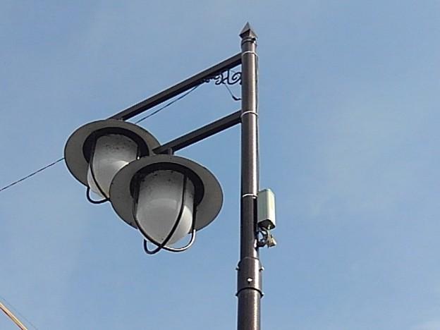 街灯と青空(8月22日)