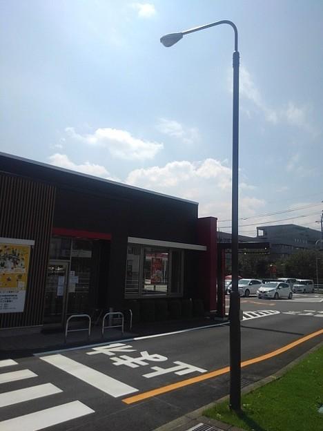 マクドナルドの店の前(8月30日)