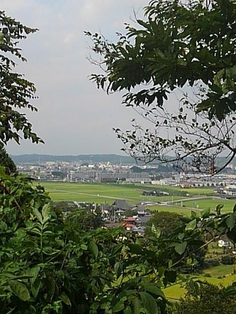 川崎城跡公園の丘の上から見えた眺め(8月28日)