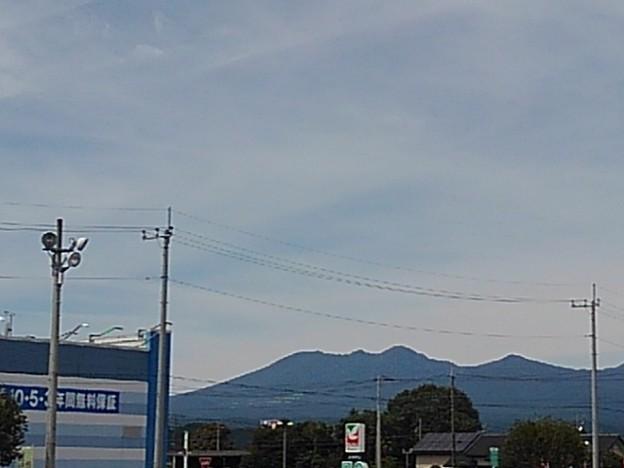 駐車場から見えた山(9月13日)