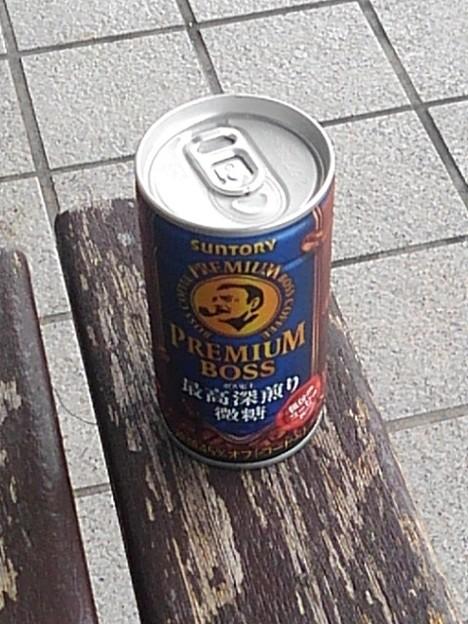 ベンチの上の缶コーヒー(9月18日)