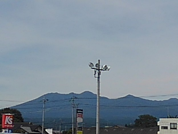 街灯と山(9月13日)