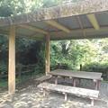 川崎城跡公園の丘の休憩所(8月28日)