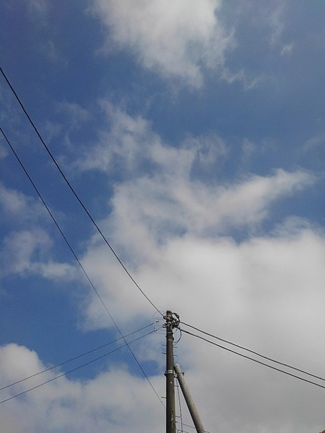 電柱の奥の雲(9月11日)