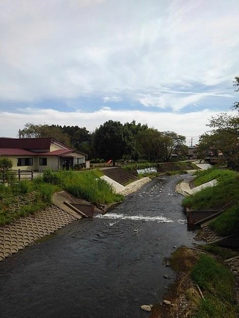 橋の上から見えた川(9月13日)