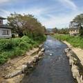 Photos: 薄い雲も見える川(9月13日)