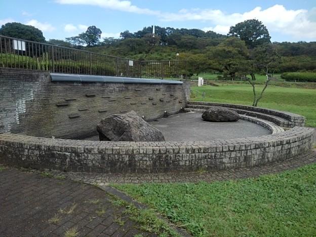 長峰公園の人工池(9月10日)