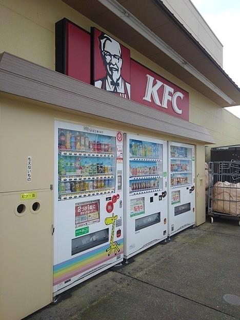 ヨークベニマル前の自動販売機(9月13日)
