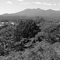 Photos: 高原山のある景色(9月19日) モノクロ版