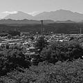 Photos: 日光連山のある景色(9月19日)モノクロ版