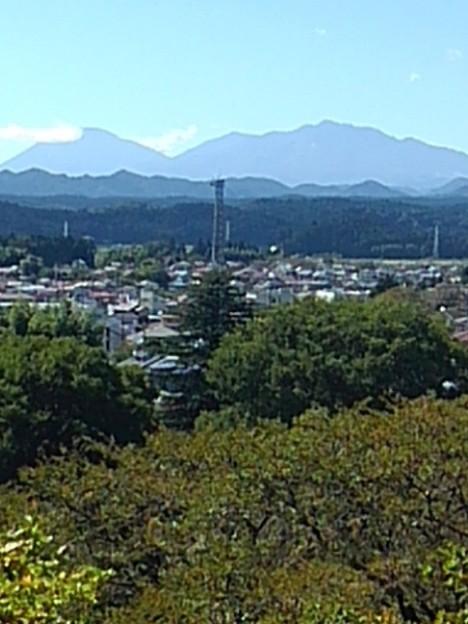 長峰公園の丘から見えた日光連山(9月19日)