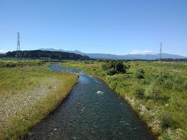 橋の上からの川(9月20日)