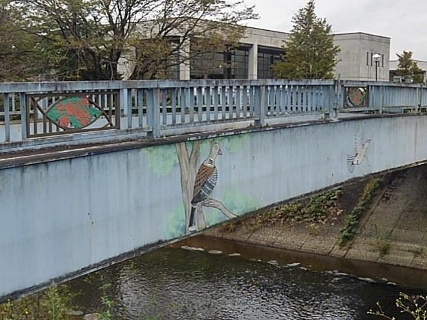 橋に鳥の絵(9月26日)