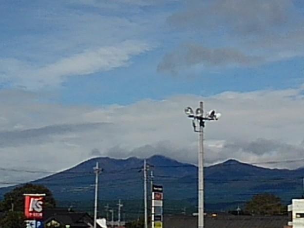 駐車場から見えた山(10月6日)