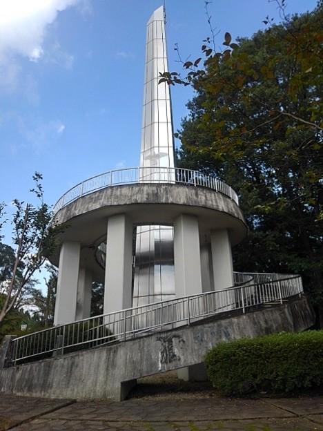 長峰公園の丘のシンボルタワー(9月10日)