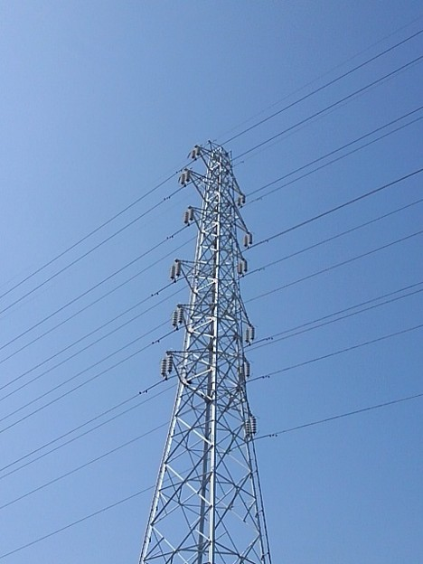 鉄塔と青空(10月4日)