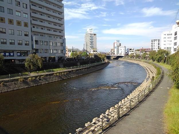 宇都宮駅の近くの川(10月8日)