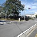 調剤薬局の前の交差点(10月8日)