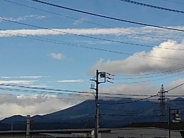 街中からの山(10月17日)