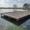 ゆうゆうパークの池の桟橋(10月15日)