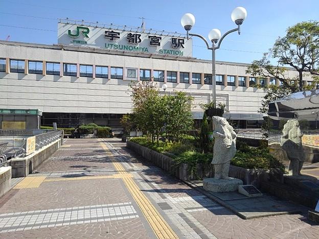 宇都宮駅前風景(10月8日)