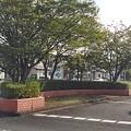 矢板駅近くのロータリー(10月8日)