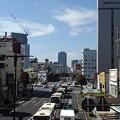 宇都宮駅の近くの道路(10月8日)