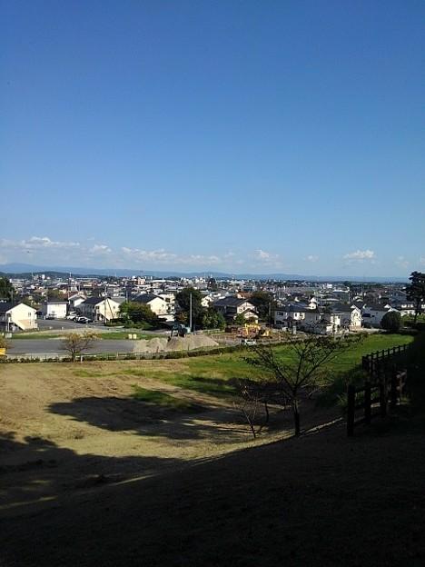 烏ヶ森公園の丘の斜面からの景色(10月3日)