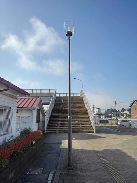 矢板駅前の街灯(10月8日)