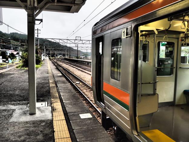 信越線の横川駅にて