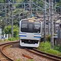 北鎌倉のカーブを往くE217系