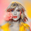 Beautiful Blue Eyes of Taylor Swift(11163)