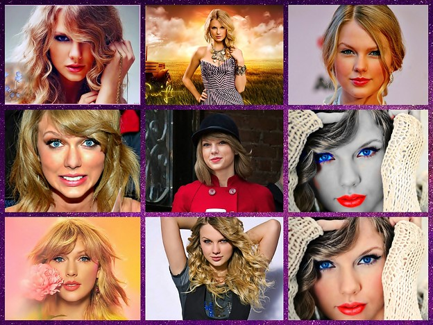 Beautiful Blue Eyes of Taylor Swift(11183) Collage